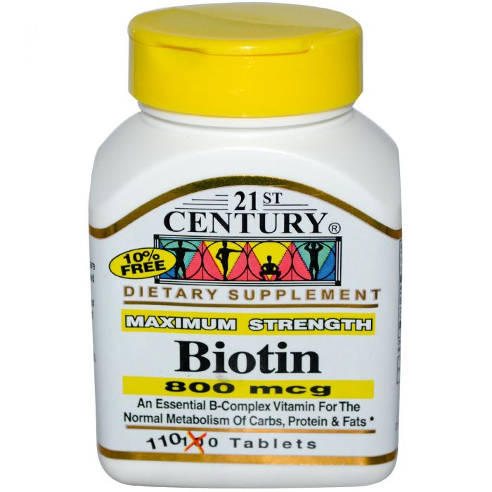 21st Century Biotin 800 mcg Maximum Strength 110 Tabs