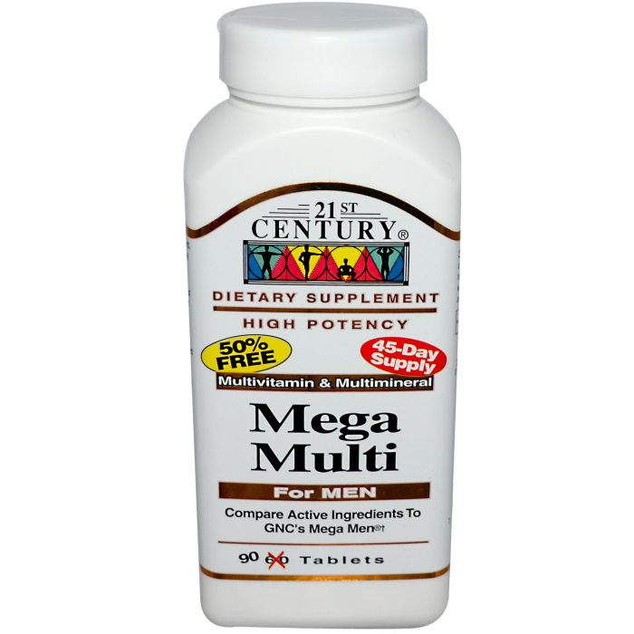 21st Century Mega Multi for Men 90 Tabs