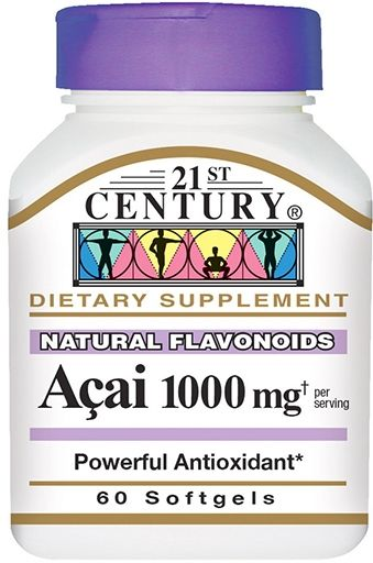 21st Century Acai 1000 mg 60 Softgels