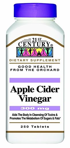 21st Century Apple Cider Vinegar, 300 mg, 250 Tabs
