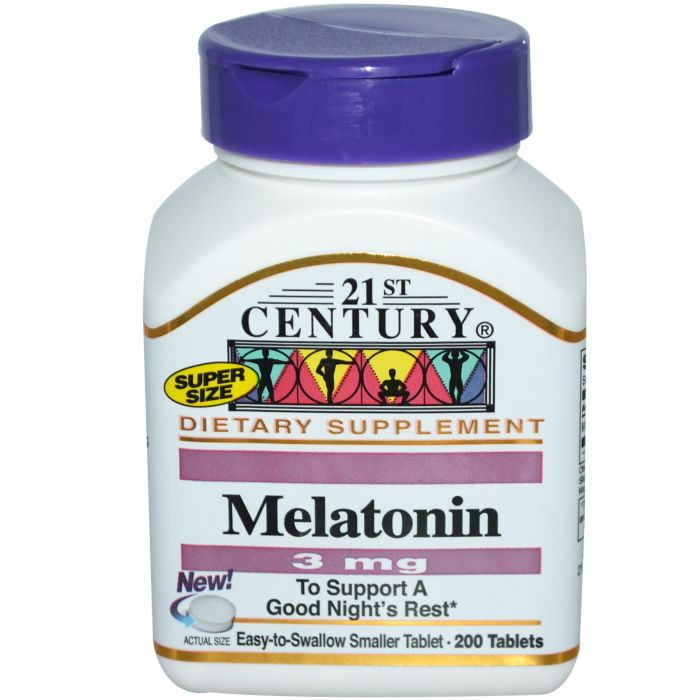 21st Century Melatonin 3 mg 200 Tabs