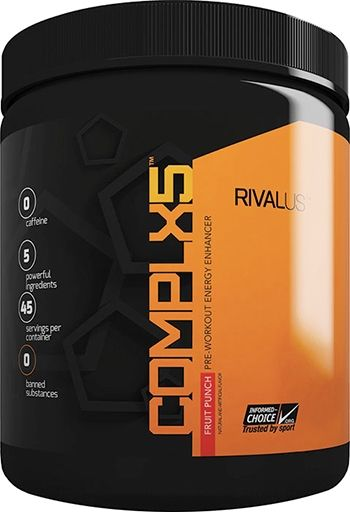 COMPLX5, By RIVALUS, Caffeine-Free, Pre-Workout, Fruit Punch, 45 Servings,