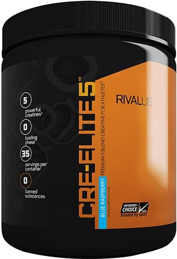 Cre-Elite5, By RIVALUS, Creatine, Blue Raspberry, 35 Servings,