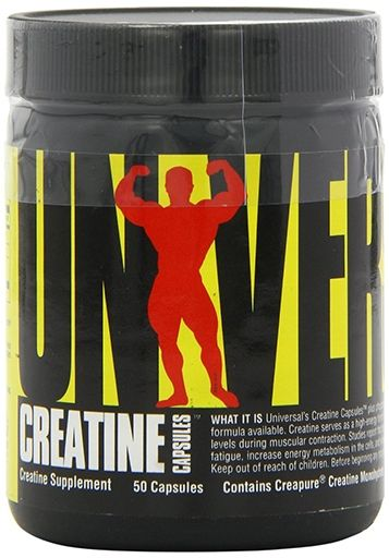 Creatine Capsules By Universal Nutrition, 50 Caps
