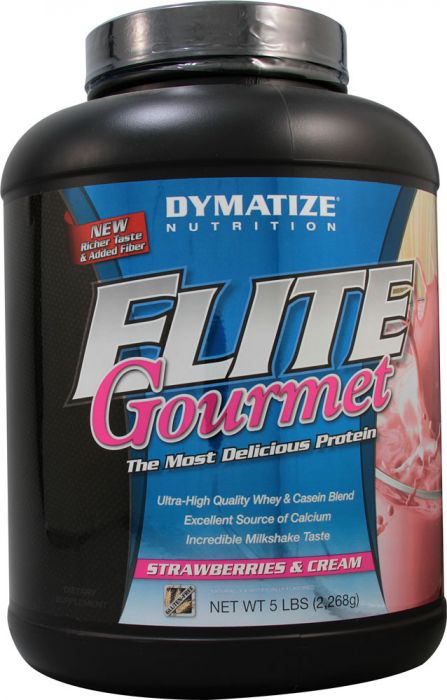 Dymatize Elite Gourmet Strawberries & Cream 5lb Whey & Casein Pr