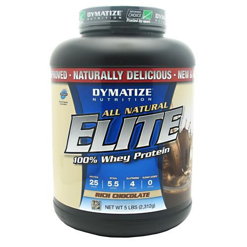 Elite Natural Whey, Dymatize Nutrition, Rich Chocolate, 5lb