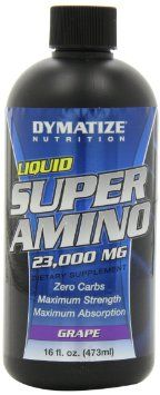 Dymatize Super Amino Liquid 23000mg, Grape, 16oz