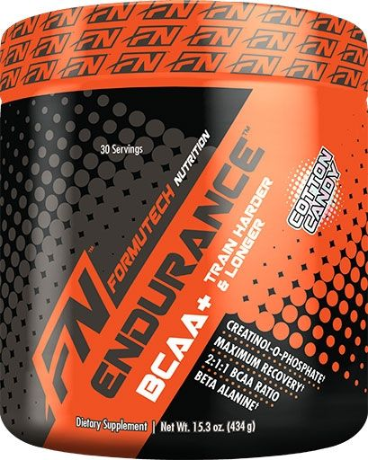 Endurance BCAA Plus By Formutech Nutrition, Cotton Candy, 464 Grams