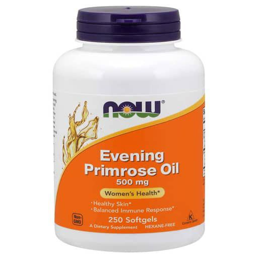Evening Primrose Oil By NOW, 500 mg, 250 Softgels