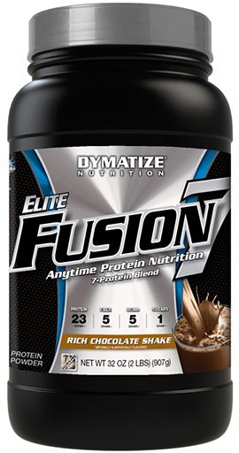 Elite Fusion 7 By Dymatize Nutrition, Rich Chocolate Shake, 2lb