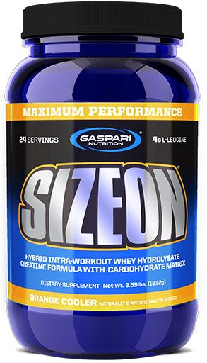 SizeOn, By Gaspari Nutrition, Maximum Performance, Orange Cooler, 3.59lb