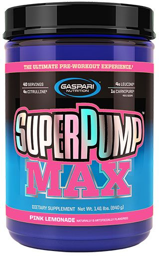 Gaspari Nutrition SuperPump MAX Pink Lemonade 40 Servings Pre Workout