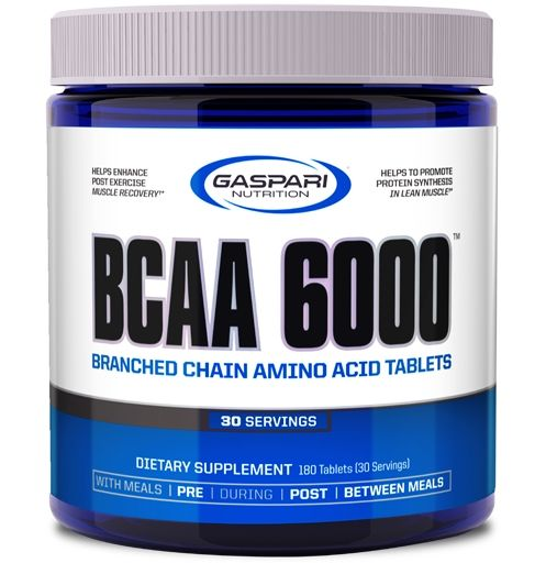 BCAA 6000, By Gaspari Nutrition, 180 Tabs