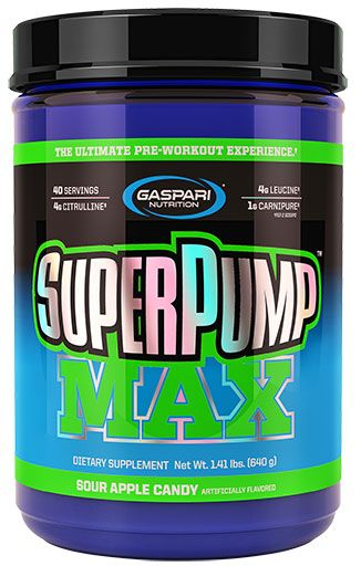 Gaspari Nutrition SuperPump MAX Sour Apple 40 Servings Pre Workout