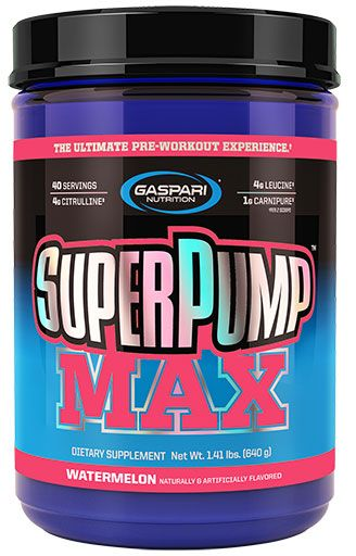 Gaspari Nutrition SuperPump MAX Watermelon 40 Servings Pre Workout