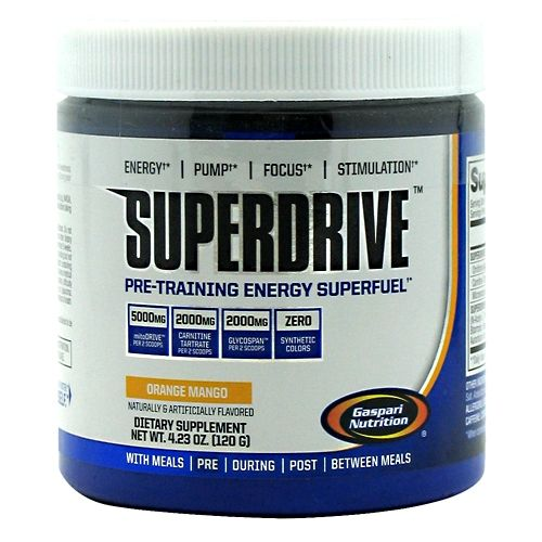 Gaspari Nutrition SuperDrive Orange Mango 20 Servings