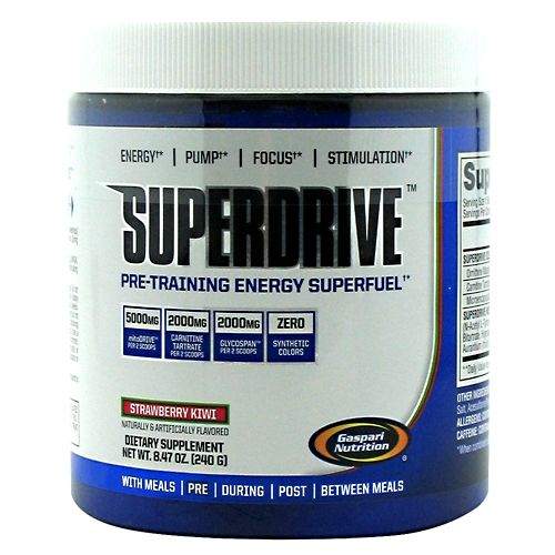 Gaspari Nutrition SuperDrive Strawberry Kiwi 40 Servings