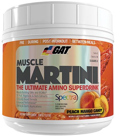 Muscle Martini By GAT, Peach Mango 30 Servings