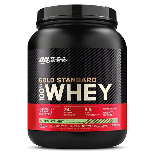 Optimum Nutrition 100% Whey Gold, Chocolate Mint, 2lb