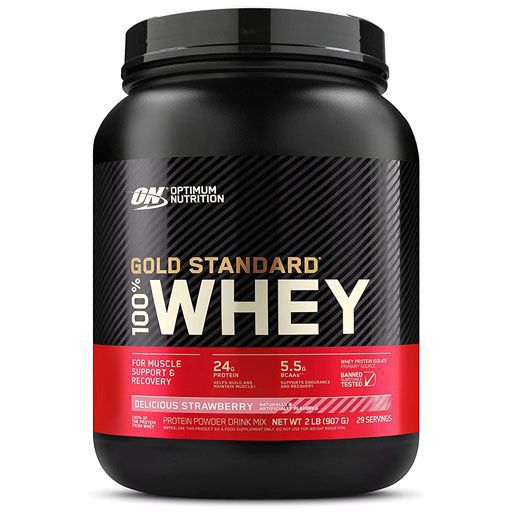 Optimum Nutrition 100% Whey Gold Standard, Strawberry, 2lb