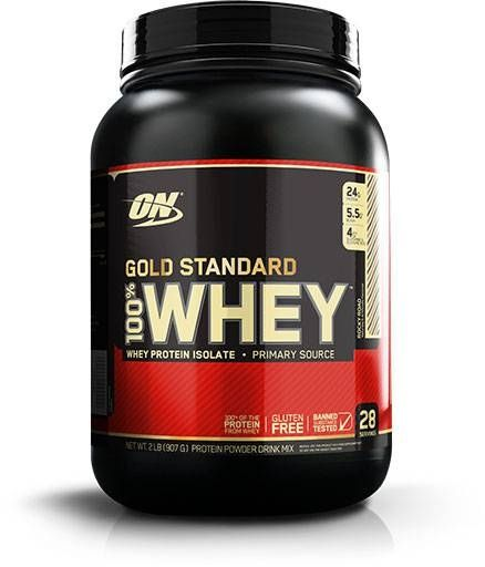 Optimum Nutrition 100% Whey Gold, Rocky Road, 2lb