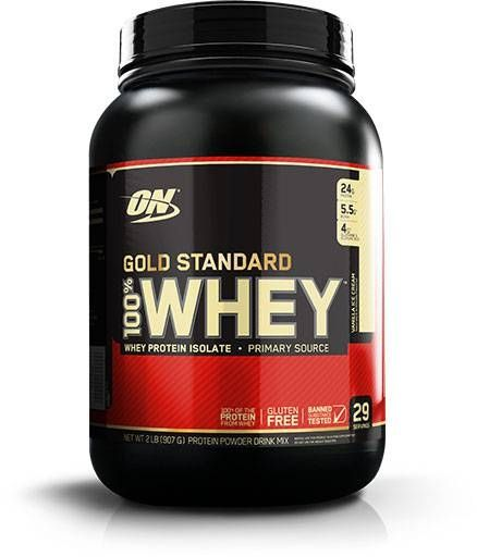 Optimum Nutrition 100% Whey Gold Standard, Vanilla, 2lb