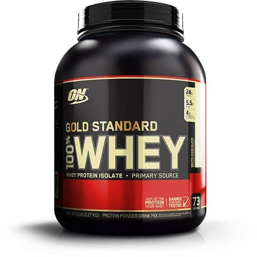 Optimum Nutrition 100% Whey Gold, White Chocolate, 5lb