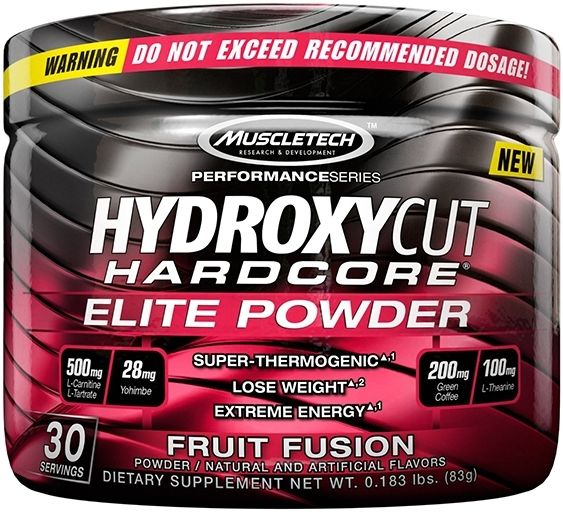 Hydroxycut Elite Powder By MuscleTech, Fruit Fusion 30 Servings