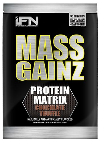 Mass GainZ By iForce Nutrition, Chocolate Truffle, 10lb