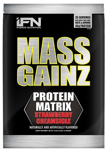 Mass GainZ By iForce Nutrition, Strawberry Creamsicle, 10lb