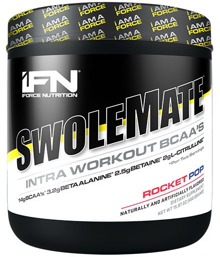 SwoleMate BCAA By iForce Nutrition, Rocket Pop, 30 Servings