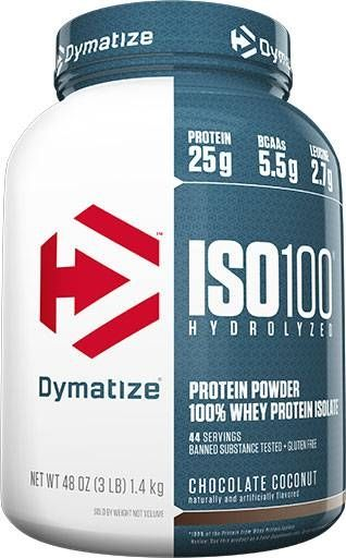 Dymatize Iso 100, Chocolate Coconut, 3lb