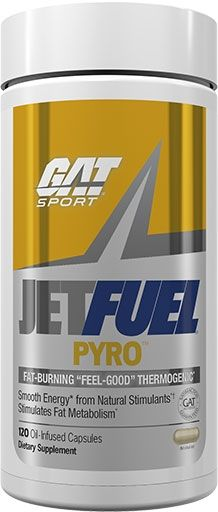 Jet Fuel Pyro By GAT, 120 Oil-Infused Caps