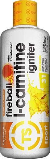 Fireball L-Carnitine, Top Secret Nutrition, Pineapple, 16 oz