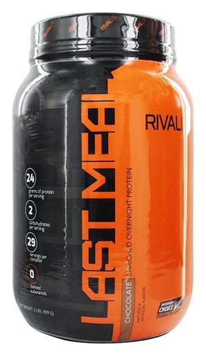 Last Meal, By RIVALUS, Casein Protein, Chocolate, 2lb,