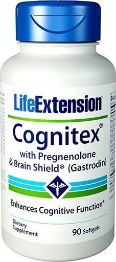 Cognitex with Pregnenolone and Brain Shield By Life Extension, 90 Softgels