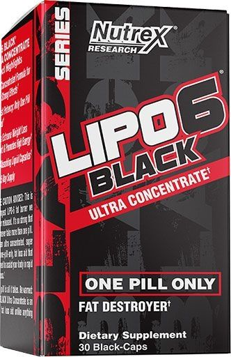 Lipo 6 Black, Ultra Concentrate, By Nutrex, 30 Caps