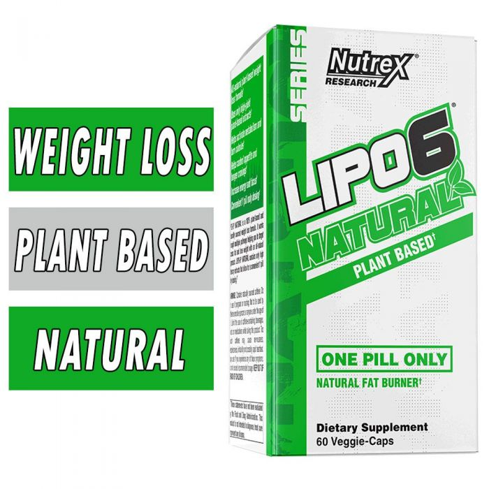 Lipo 6® Natural By Nutrex®, 60 Veggie Caps