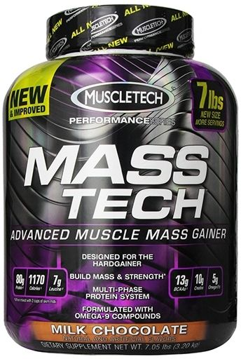 Mass-Tech By MuscleTech, Weight Gainer, Milk Chocolate 7lb