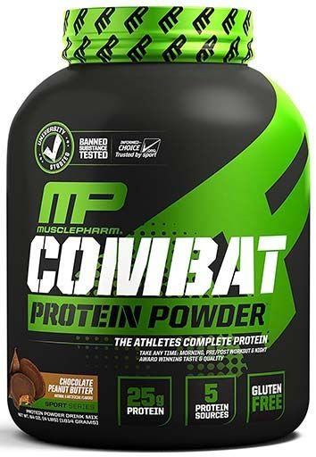 Combat Protein by Muscle Pharm, Chocolate Peanut Butter 4lb