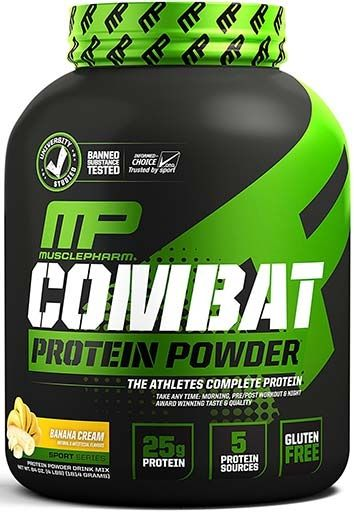 Muscle Pharm Combat Banana Cream 4lb Time Release Protein