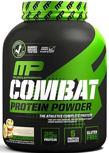 Muscle Pharm Combat Powder Cookies 'N' Cream 4lb Time Release Protein
