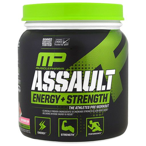 Assault Sport By Muscle Pharm, Watermelon, 30 Servings