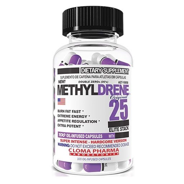 Cloma Pharma Methyldrene 25 Elite 100 Caps Fat Burner