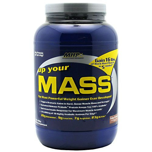 MHP Up Your Mass Fudge Brownie 2 lb Weight Gainer