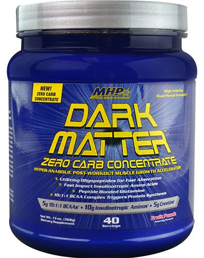 Dark Matter Zero Carb By MHP, Post Workout, Fruit Punch 40 Servings