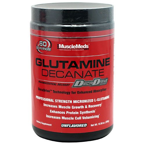 MuscleMeds Glutamine Decanate Unflavored 60 Servings