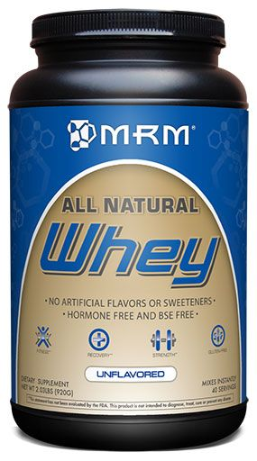 All Natural Whey, By MRM, Natural Flavored, 2.03lb Image