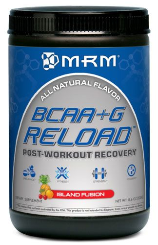 BCAA + G Reload, By MRM, Island Fusion, 24 Servings