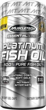 MuscleTech Essential Series 100% Platinum Fish Oil 100 Caps